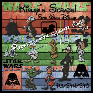 Disney Star Wars digital scrapbook kit.  Free.  Kinley's Scraps: May 2011
