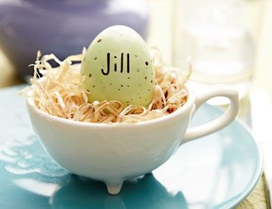 Love this idea as a place setting for Easter dinner:):