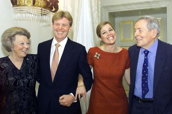 royalforums:  15th Anniversary of the engagement of the Crown Prince of the Netherlands, March 30, 2016 (announced March 30, 2001)-today marks the public announcement of Crown Prince Willem-Alexander to Argentinian lawyer Máxima Zorriguieta, now King and Queen of the Netherlands, and shown here with Queen Beatrix and Prince Clause; the couple were married on February 2, 2002