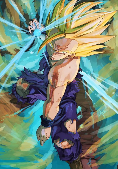 Gohan At His Peak Of Coolness Dragon Ball Gt Anime Dragon Ball Super Dragon Ball Z