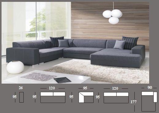 Hades Big Corner Sofa Bed With Sleep Area And Bedding Storage U Shape Big Corner Sofa Corner Sofa Bed Corner Sofa