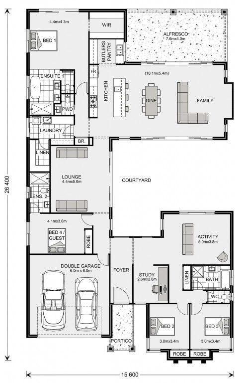 Mandalay 335 Custom Home Design G J Gardner Homes In 2020 Bungalow Floor Plans Home Design Floor Plans Floor Plans