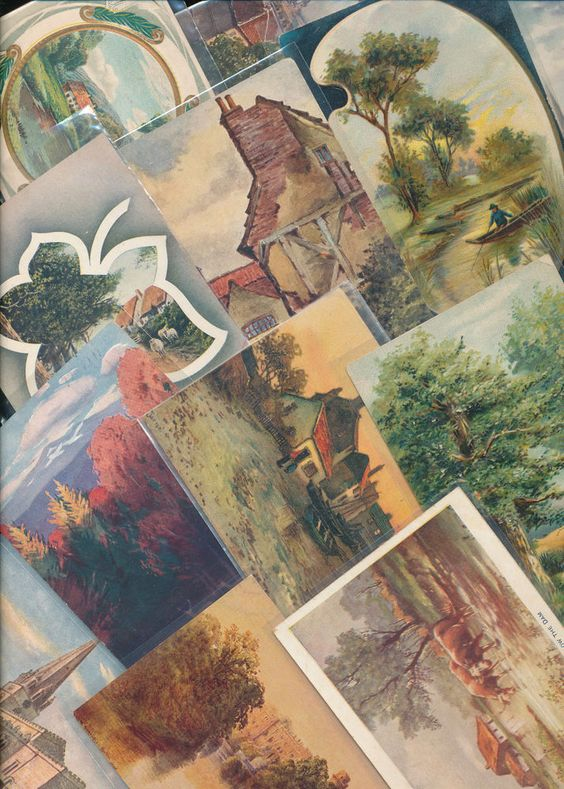 Lot of 86 Greetings Postcards with Scenic Views Scenes-1900s-Vintage-ppp664