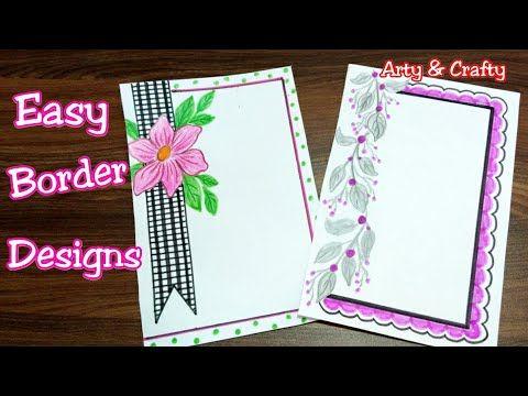 Easy Border Design On Paper