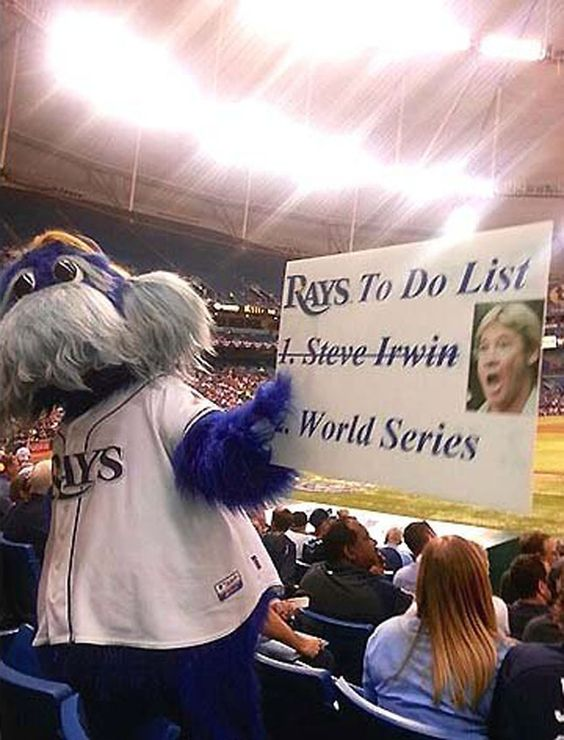 This may not be the best sign their mascot could have been holding. Do you think it's in poor taste?