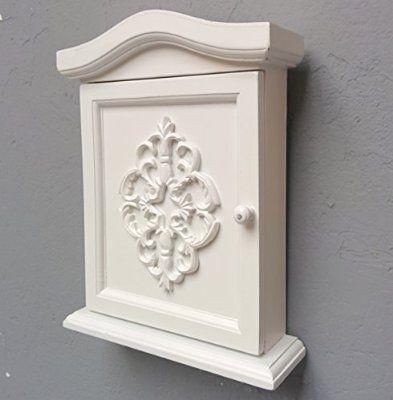Cassetta portachiavi nuovo modello in legno bianco da - Portachiavi da parete ...