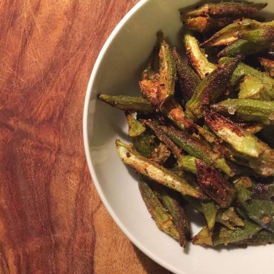 baked okra chips — Coaching by Carley