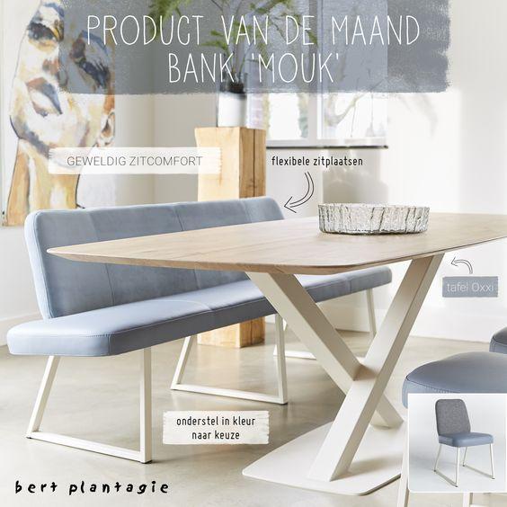 bert plantagie - Mouk - eetkamerbank - eethoek - modern - designer moebel weiss baxter