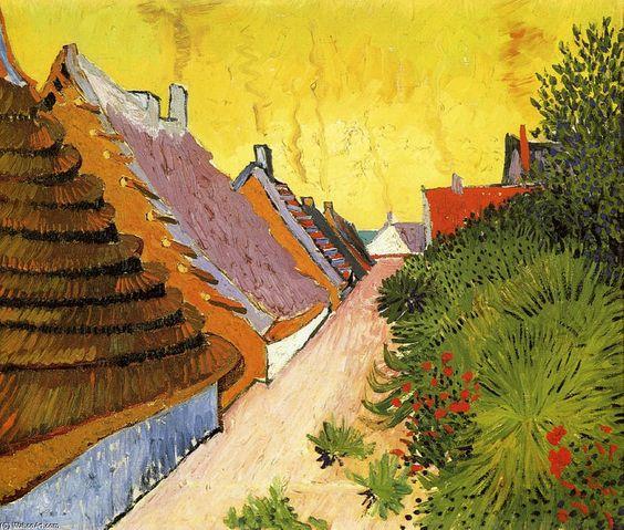 """""""Rua em Saintes-Maries (2)"""", óleo sobre tela por Vincent Van Gogh (1853-1890, Netherlands)"""