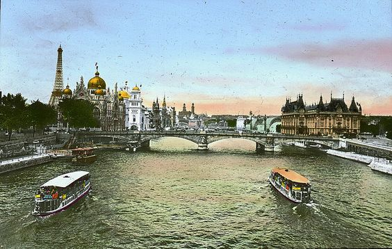 Paris Exposition: Seine River, Paris, France, 1900 by Brooklyn Museum
