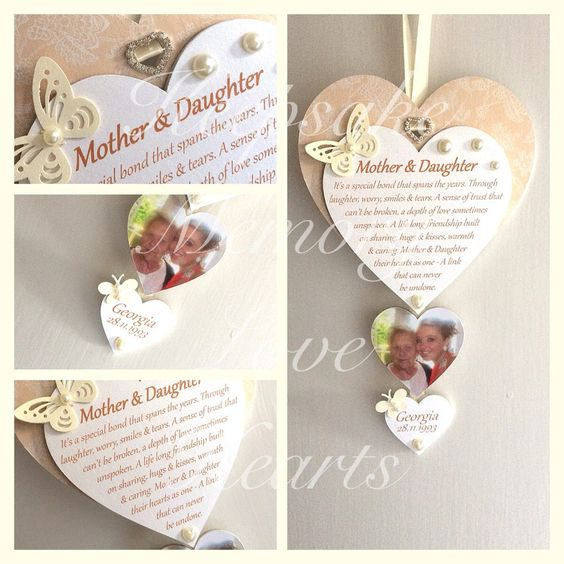 Mother of the Bride Gift Wooden Keepsake Heart - pinned by pin4etsy.com