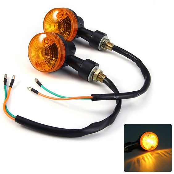 $6.03 (Buy here: http://appdeal.ru/5bw8 ) 2pc Mini Motorcycle Turn Signal Light Motorcycle Turn Signal Indicator Light Bulb Energy Saving And Long Lifespan for just $6.03
