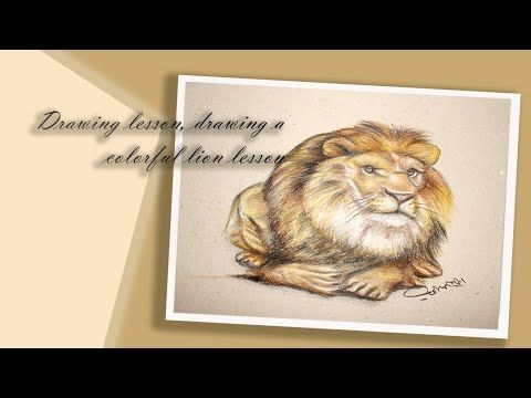 درس رسم درس رسم اسد ملون Acrylic Colors Lion Animals
