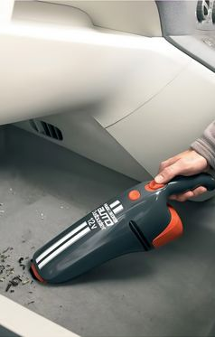 Comfortably Clean your Car's Interiors & Other Difficult-to-Reach Areas of Your Car with Black & Decker AV1205 Car Vacuum Cleaner.