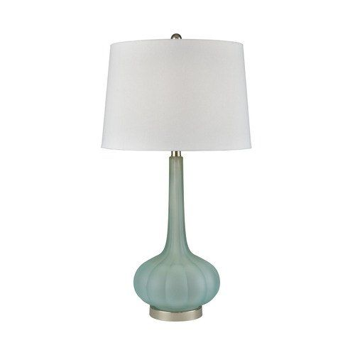 Emerald Isle Frosted Glass Table Lamp Glass Table Lamp Table Lamp Transitional Table Lamps