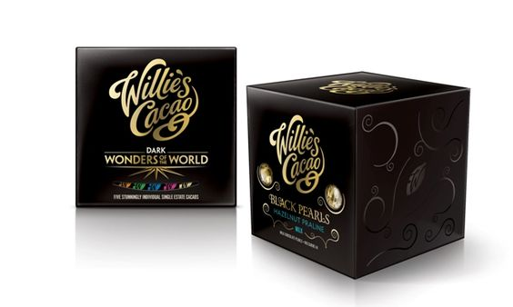 Willie's Cacao  black pearls  #chocolate #packaging AM