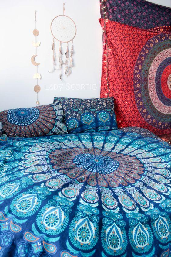 Turquoise Dreams Mandala Tapestry