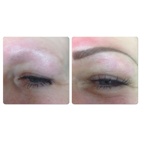 Before after powder fill micropigmentation brows at for Powder eyebrow tattoo