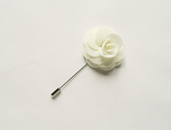 Mens white flower lapel pin wedding boutonniere wedding lapel pin mens white flower lapel pin wedding boutonniere wedding lapel pin groomsmen mightylinksfo