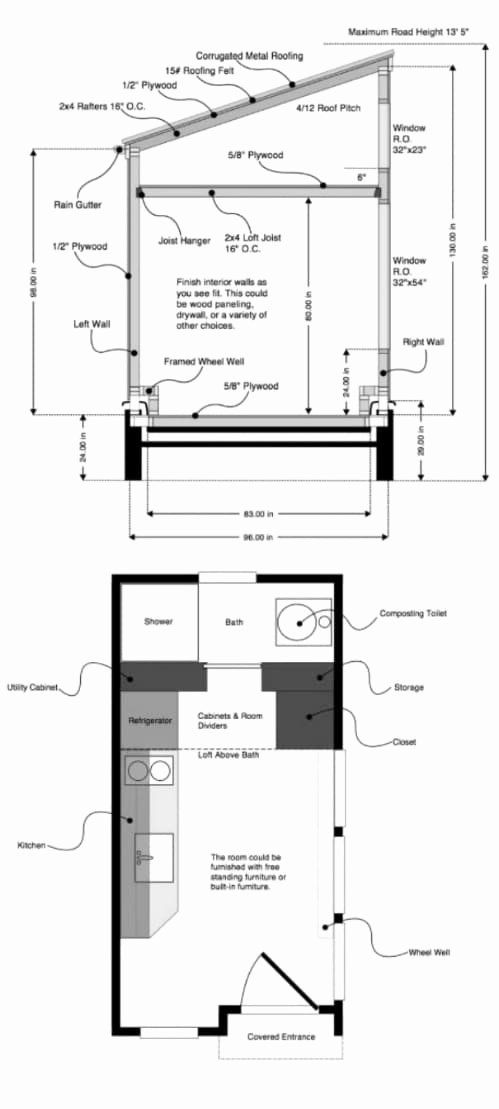 Tiny House Plans Texas Inspirational 17 Do It Yourself Tiny Houses With Free Or Low Cost Plans In 2020 Tiny House Plans Tiny House Floor Plans Off Grid Tiny House