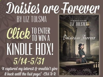 Daisies are Forever by Liz Tolsma is receiving rave reviews! Enter to win a Kindle HDX and learn more. Winner announced on Lizs website on 6/2.
