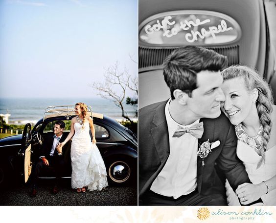 jacquie and andrew | montauk sneak peek | obsessed with Alison Conklin Photography | Alison and Geoff are one of a kind | beach wedding | Montauk, NY | love | Volkswagen Beatle 1955 | Gurney's Inn | Montauk Yacht Club | wedding | romantic | nautical