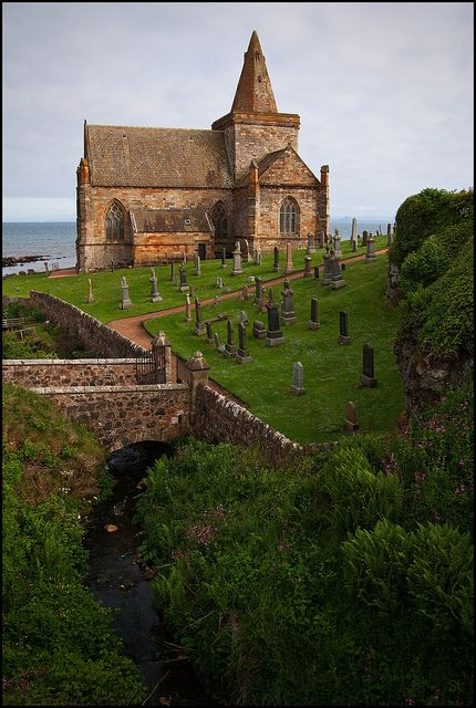 St Monans church is a striking and intriguing building. Its location, for starters, is right on the shore, at the fringes of one of the most beautiful fishing villages in Scotland.