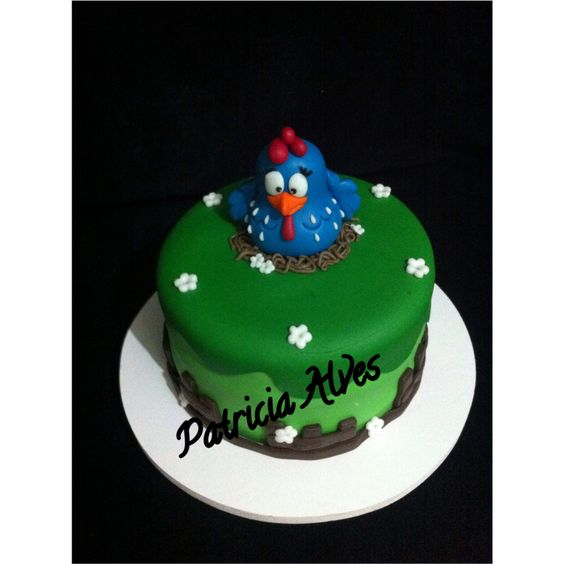 Mini bolo galinha pintadinha. Contato inbox. Curta a nossa página.