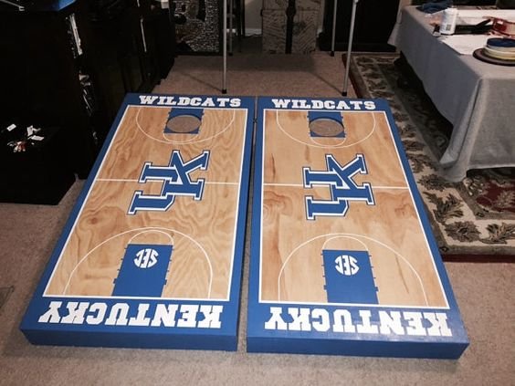 Custom Corn Hole Set with Bags very detailed by FishsCustoms