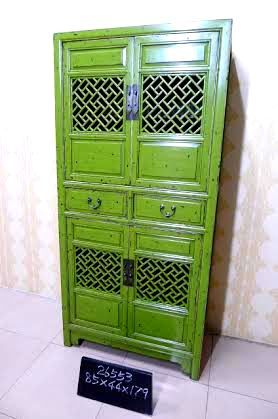 tall cabinet with textured screen doors | Chinese lattice ...