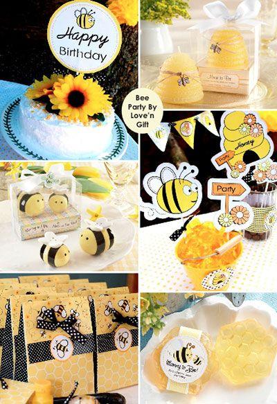 anniversaire enfant th me abeille decora fiesta pinterest. Black Bedroom Furniture Sets. Home Design Ideas
