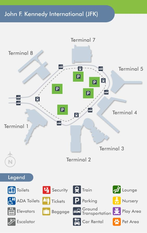 John F Kennedy International Airport Terminal Map Http