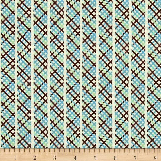 Denyse Schmidt for Free Spirit, this fabric is perfect for quilting, apparel and home decor accents. Colors include blue, green, brown and ivory.