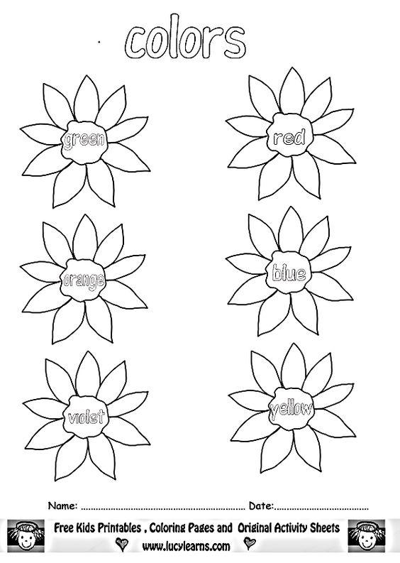 Worksheet #680880: Color Words Worksheets for Kindergarten – color ...