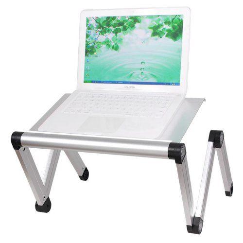 Sobuy fbt24 sil table tablette de lit ergonomique pour pc - Table de lit pour pc ...