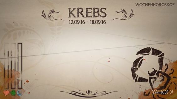 Wochenhoroskop: Krebs (KW37 - 2016)