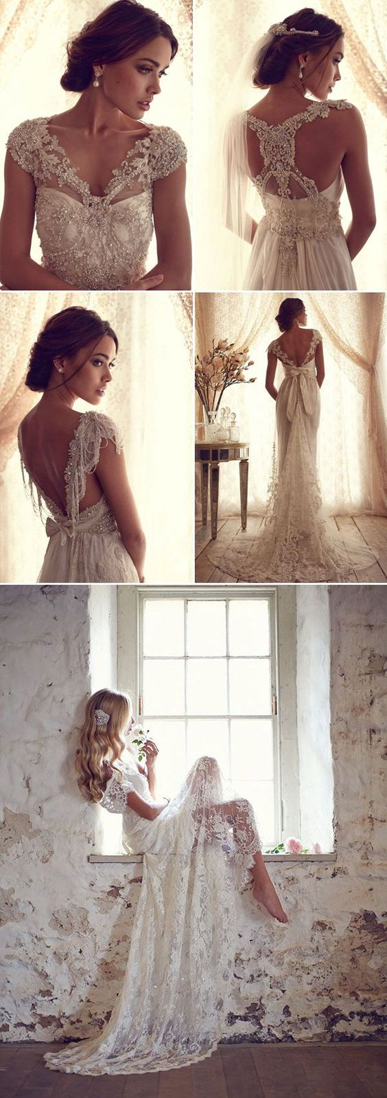 "48 Prettiest Vintage Wedding Dresses You Will Love!-**EXPLORE an Amazing Collection of ""Theme Matching Wedding Invitation Sets"" GO TO ... http://www.zazzle.com/weddinginvitationkit"