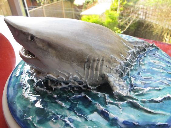 Great White Shark Cake | ... completed Scalloped Hammerheads, Reef sharks and now the Great White