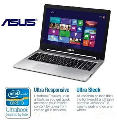 "NEW Asus 15.6"" Ultrabook Windows 8, nWiFi, Webcam, DVD-RW, HDMI, SSD  S56CA-WH31"