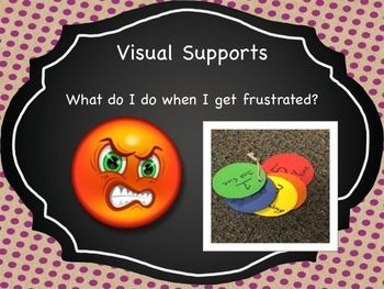 This easy color chart is Idea for students who get frustrated throughout their school day! Each color has a number and indicates to the teacher how they are feeling.  This is a great visual for students to learn how to deal with their frustration.   1.