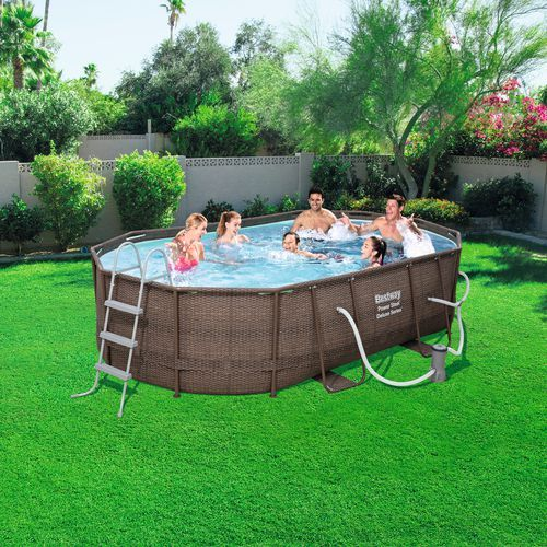 Bestway Rattan 10 Ft X 16 Ft X 42 In Oval Pool View Number 7 Oval Pool Backyard Pool Landscaping Pool Landscaping