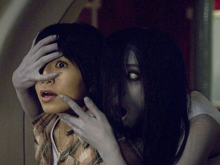"""Okay, in """"The Grudge"""" this chick was fond of coming up from behind and getting you - so uncool in my book."""