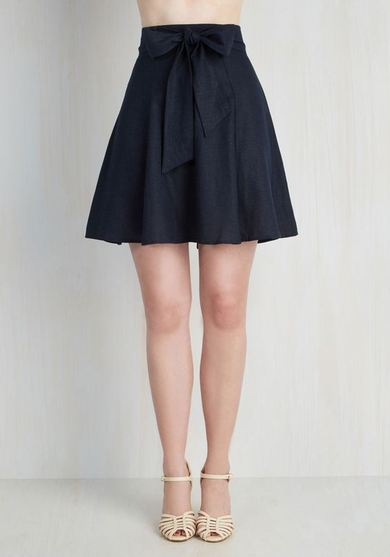 Musee Matisse Skirt in Navy | Bow shorts, Trips and Casual