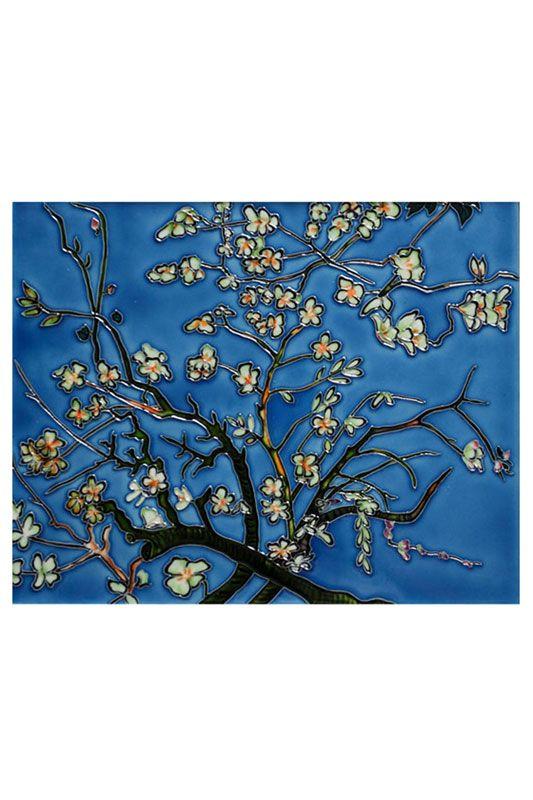 Vincent Van Gogh Vincent Van Gogh, Branches Of An Almond Tree Tile -