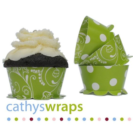 Party Cupcake Wraps for Weddings Bridal / Baby by cathyswraps, $8.00