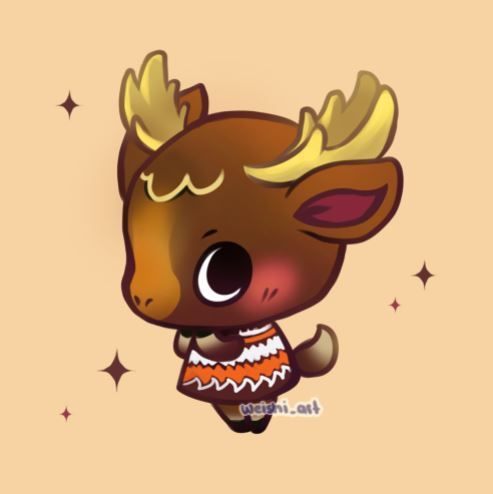 Another Deer Joining Diana Fauna And Beau Weishi Animal Crossing Animal Crossing Villagers Animal