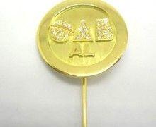 Botton OAB Diamante Ouro Amarelo 18k 750. www.marciojoalheiros.com.br