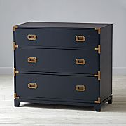 Campaign 3-Drawer Dresser (Midnight Blue)