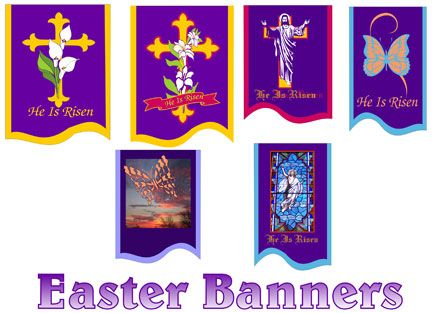 Easter Banners for Church | Religious Banner Samples ...
