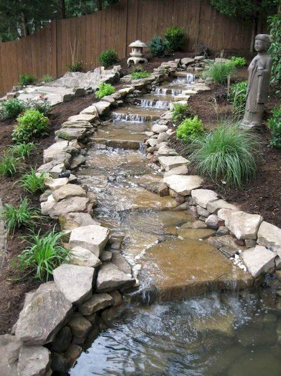 56 Favourite Backyard Ponds And Water Garden Landscaping Ideas #BackyardPonds #WaterGarden